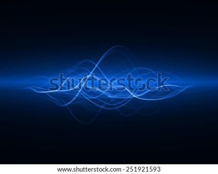 magic spell effect (blue colored,horizontal wide waves version)