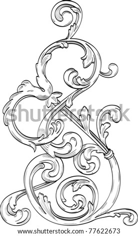 Magic swirl of acanthus leaves for great ideas - stock photo