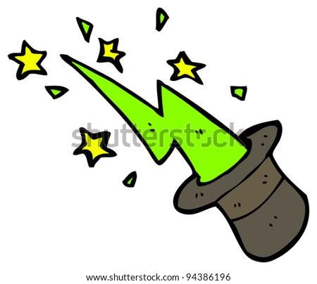 magic top hat cartoon (raster version) - stock photo