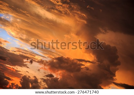 Magic Unreal Colorful Sunrise. Horisontal - stock photo
