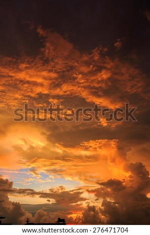 Magic Unreal Colorful Sunrise. Vertical - stock photo
