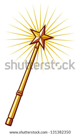 magic wand - stock photo