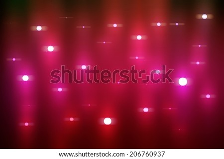 magic waterfall of lights  with glow effect and cristal stars