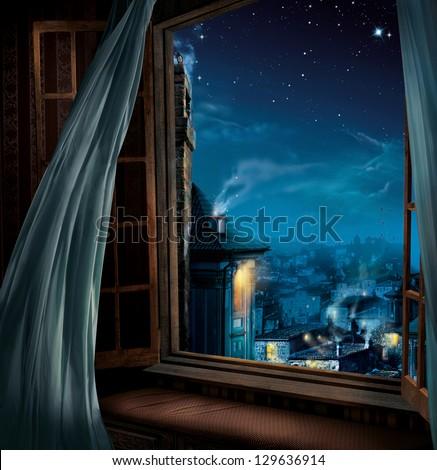 magic window - stock photo