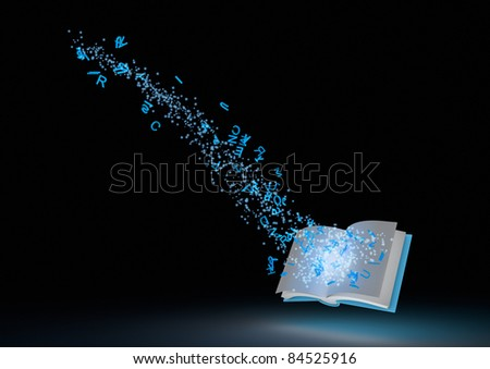Magical book - stock photo