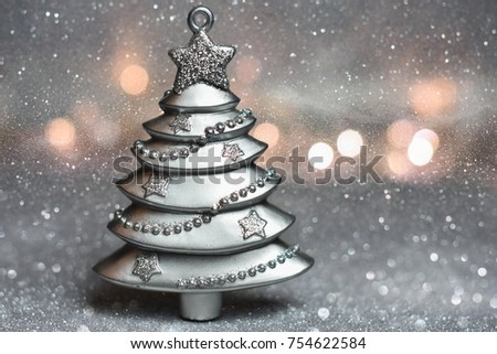 Magical Silver Christmas Tree