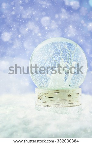 Magical snow globe.