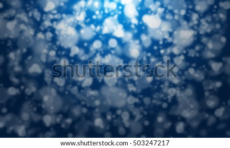 Magical  Snow on blue background
