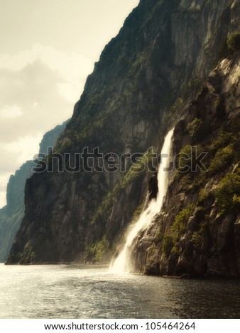 Magical Waterfall - stock photo