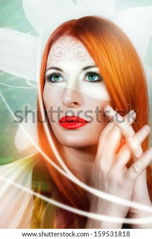 Magical young woman as fairy. Magic - stock photo