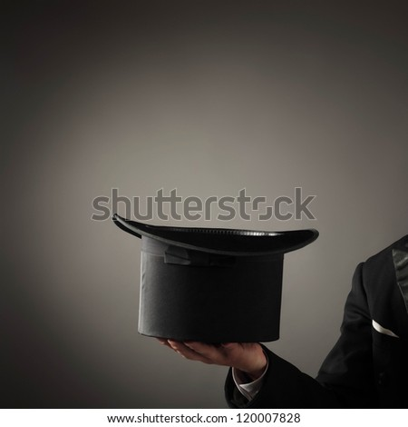 magician hat - stock photo