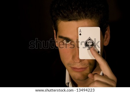 Magician portrait - stock photo