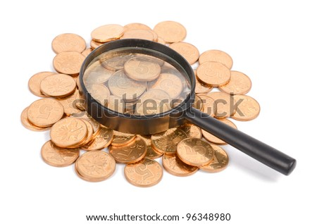 Magifier and coins