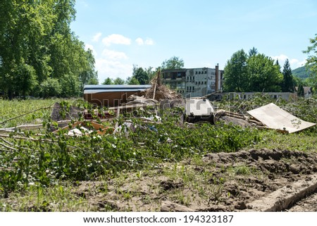 Maglaj Bosnia And Herzegovina - May 21 - Flood Natural Disaster, on May 21, 2014 in Maglaj, Bosnia