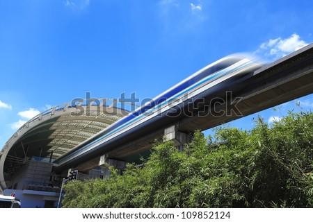 Maglev train - stock photo