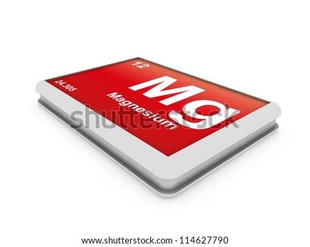 Magnesium element button - stock photo