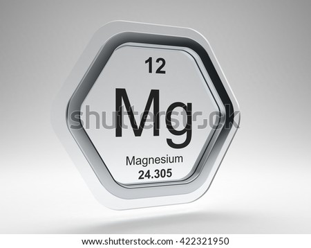 Magnesium symbol on modern glass and steel icon - stock photo
