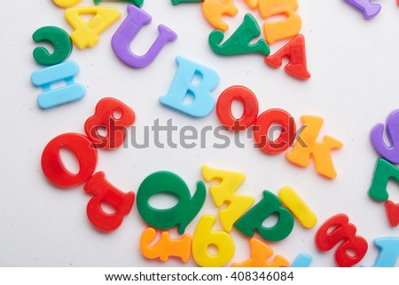 magnetic letters book