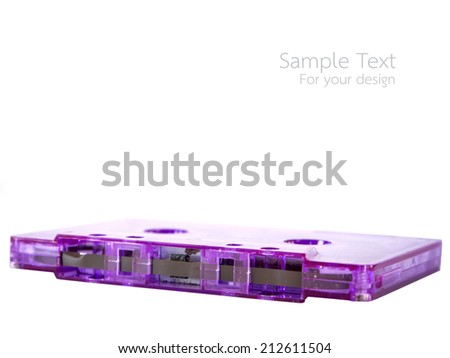 Magnetic tape cassette for audio music recording - stock photo