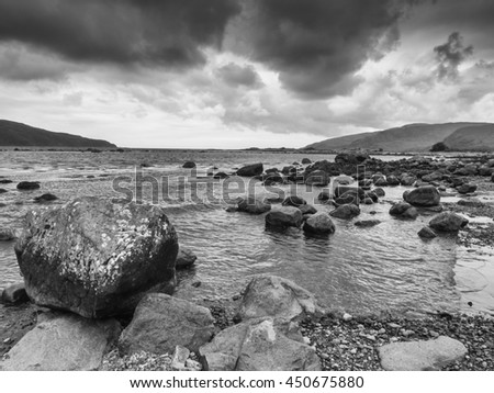 Magnificant rock formations on Loch Buie, Isle of Mull, Scotland, UK