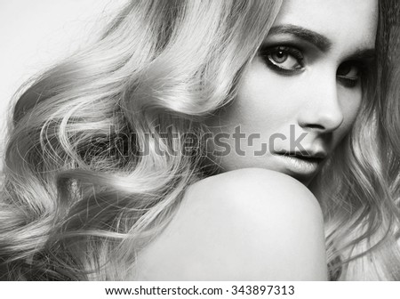 magnificent close-up beauty Portrait of beautiful young woman
