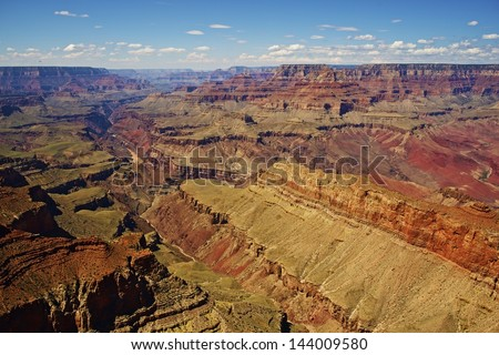 Magnificent Grand Canyon Landscape. Beautiful Shaped by Milleniums of Water Erosion. Grand Canyon, Arizona, USA. National Park. - stock photo
