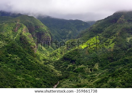 Magnificent Hanapepe Valley in Kauai Island, Hawaii - stock photo