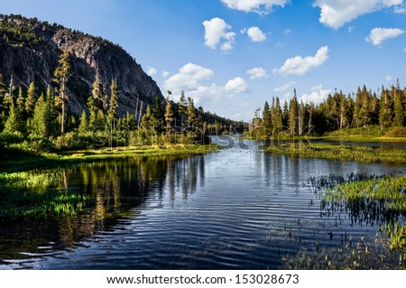 Magnificent lake scenery in a national park