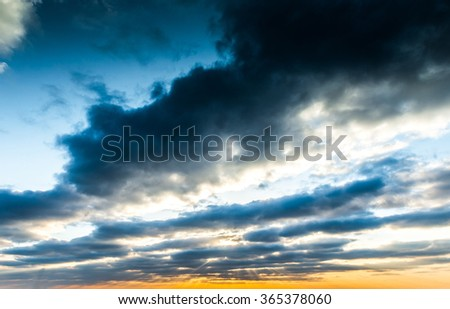 magnificent sky at sunset. beautiful background - stock photo