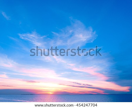 Magnificent View Bright Horizon  - stock photo