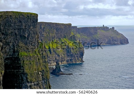 Magnificent view of the Cliffs of Moher in Ireland - stock photo