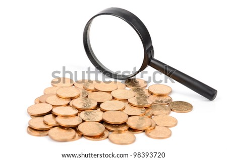 Magnifier and coin