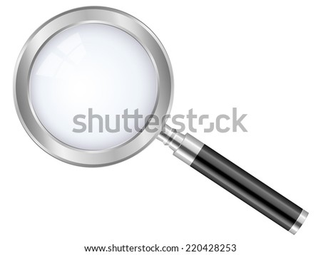 magnifier glass illustration.