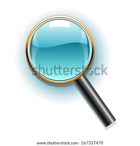 Magnifier icon. Raster version of EPS image 87268657