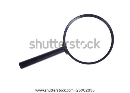 magnifier isolated on white background - stock photo