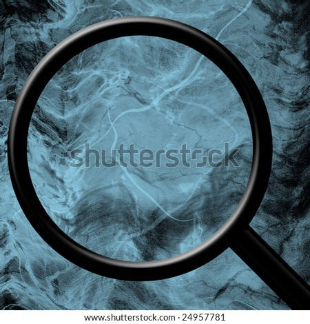 magnifier on a blue background
