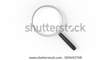 Magnifier on a plain background
