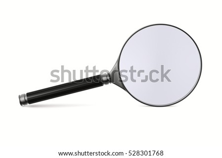 Magnifier on white background. Isolated 3D image