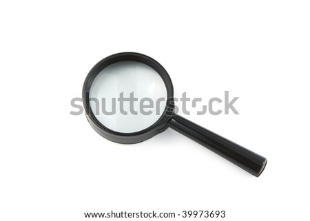 magnifier white isolated