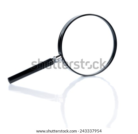 Magnify glass  - stock photo