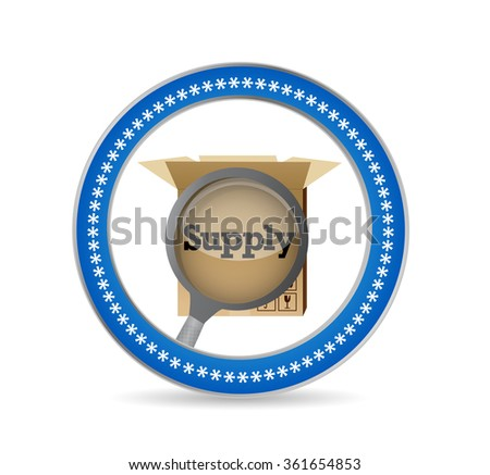 magnify supply review seal illustration design graphic