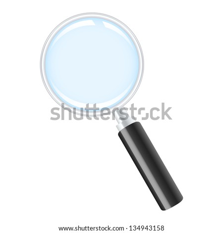 Magnifying glass. 2d illustration.