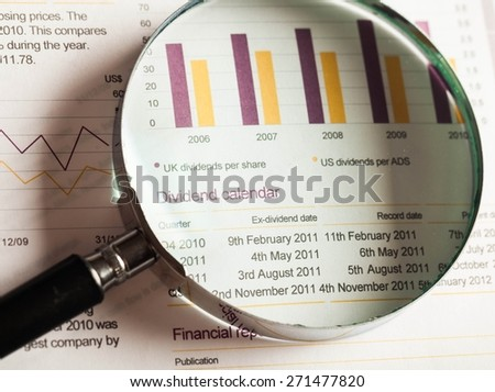 Magnifying Glass, Growth, Funky. - stock photo