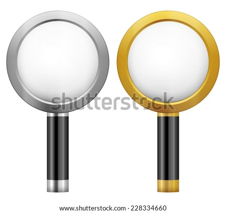 magnifying glass illustration.