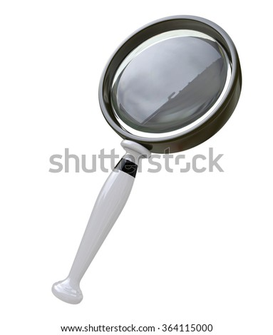 Magnifying Glass in the design of access to information relating to the search - stock photo