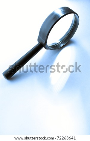 Magnifying glass isolated - stock photo