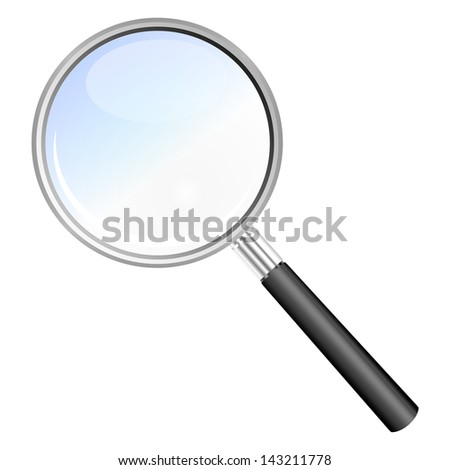 magnifying glass isolated illustration - stock photo