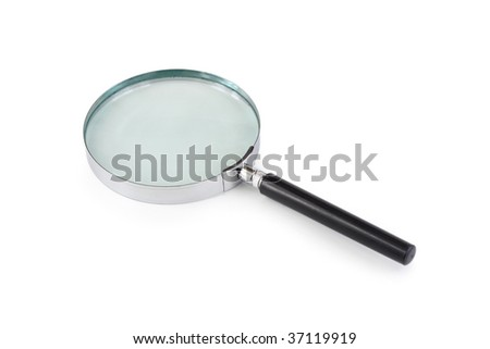 Magnifying glass, isolated on white