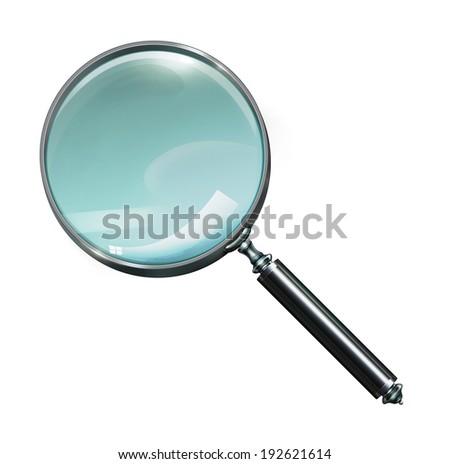 Magnifying Glass, Isolated On White Background,illustration - stock photo