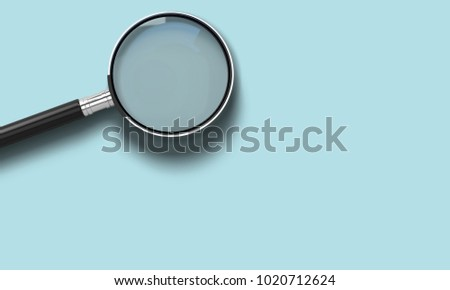 magnifying glass put on table